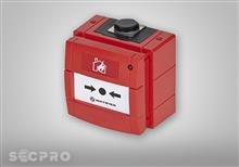 Adresseerbare handbrandmelder rood IP67 met isolator
